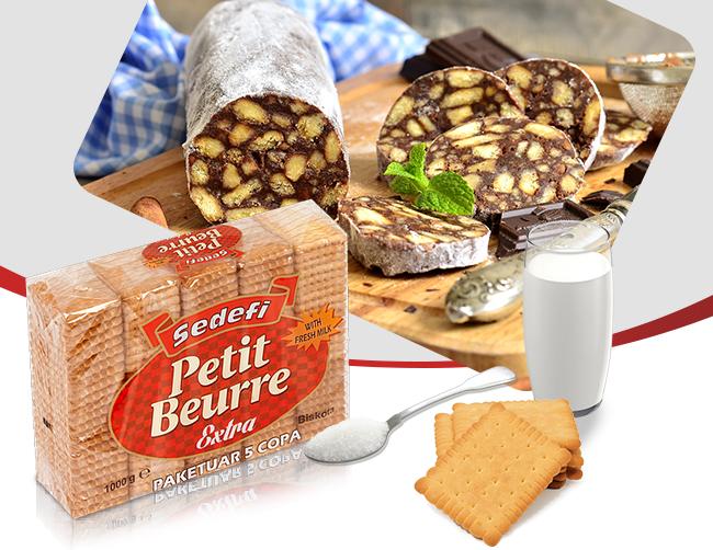 Rolladë me biskota Sedefi Petit Beure